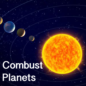 Combust planets in astrology - effects and results