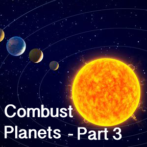 Combust planets and its effects